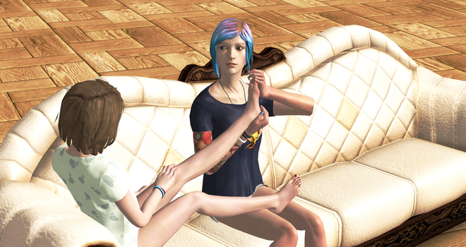 Max x Chloe foot massage by butthurt12