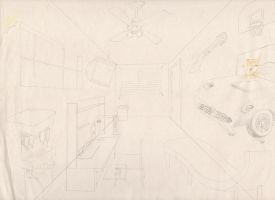 Idealistic Sketch of My Room by jesus-at-art