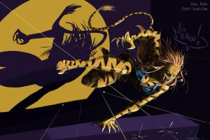 Crouching Tigra 2 by SpiderGuile