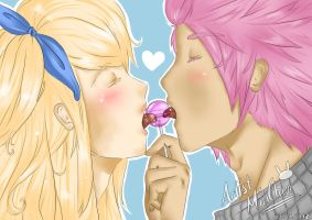 NaLu: Let's share a lollypop by ArtistMinChen