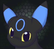 Shiny umbreon by luna-the-umbreon