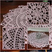 Crochet: Pink Doily by Engelina-c