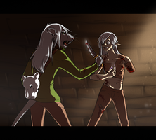 A Forced Fight by Susiron