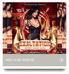 Exaltation Party Flyer Template by cerceicer