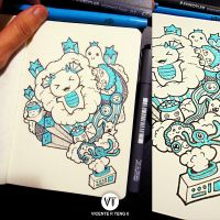 Doodle: Cloud Machine by vicenteteng