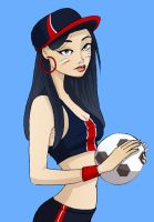 Football pinup - PSG club by Val-eithel