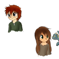 Hiccup and Astrid kids by hikariviny