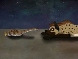 Hyena and Snake by ElectricRainbowBlood