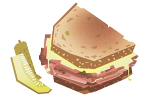a pastrami sandwich by ducksofrubber
