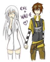 Eve x Wall-E by 1and-Only-Princess