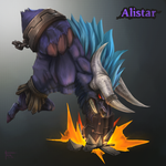 Alistar - League of Legends Chibi collection. by Blindconcept
