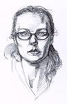 Self Portrait - 1 May 2009 by mollygrue