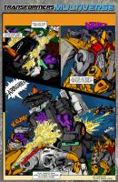 Dinobots Vs. Trypticon by hde2009