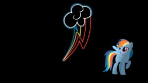 Rainbow Dash Glowing Cutie Mark Wallpaper 16:9 by alexram1313