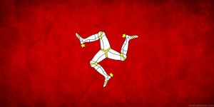 Isle of Man Flag Grunge by think0
