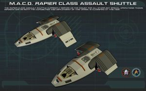 MACO Rapier Class Assault Shuttle ortho [2] [new] by unusualsuspex