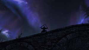 Epic Skyrim aurora wallpaper by Mallony