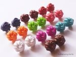 Polymer Clay Whipped Cream Dollop Stud Earrings! by mattiemazingcharms