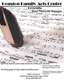 Music Theory Poster by drfarrin