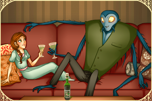 Francoeur + Lucille - Absinthe by MidoriEyes