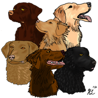 The Six Retrievers by t3hsilentone