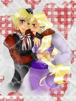 FemDen and FemNorge Valentines day card by CreepyGretel