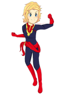 captain marvel by hungry4ramen
