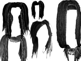 Dreadlock hair style brushes by xxxToxicSunshine