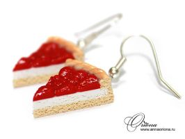 "Earrings ""Strawberry Cake"" by OrionaJewelry"