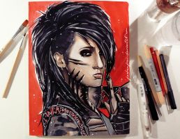 Ashley Purdy + tutorial video by Farbenfrei