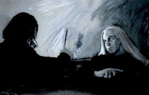 Lucius and Snape: Duel2 by ElenaTria
