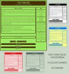 Free Two Tone CSS by moonfreak