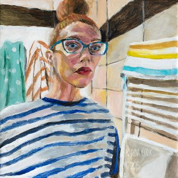 Selfportrait with Stripes by Stardust-Splendor