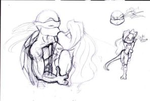 Raph and Mona by megs83
