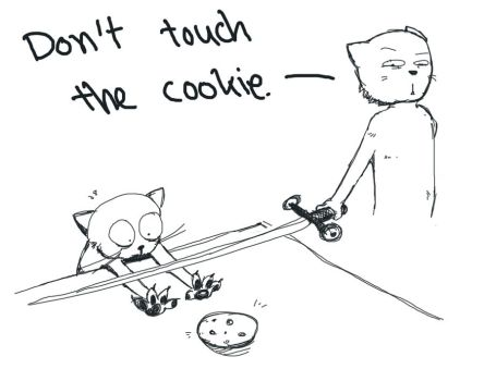Dont touch the cookie by C1BA