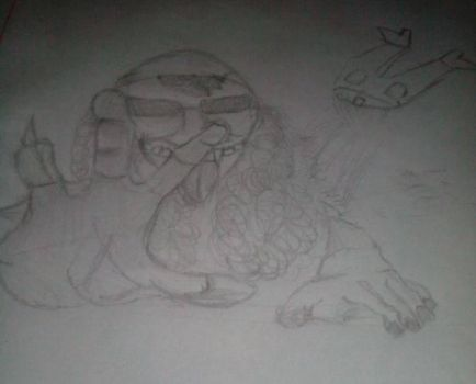 Zombie with no legs and lower maw. by dragonicoverlord14