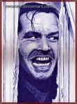 HERE'S JOHNNY!! (in biro) by zwoman