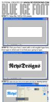 Blue Ice Font Tutorial by Reys-Designs