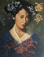 Geisha Flowers by johnstevensartist