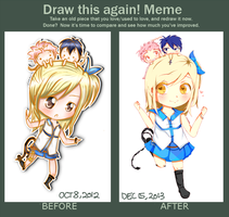 BEFORE AND AFTER MEME l FairyTail x Lucy by surlinaa