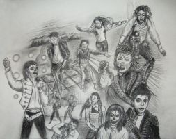 Michael Jackson B Pencil by DJLAZA