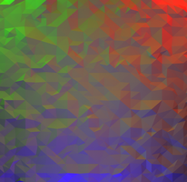 Triangulated RGB background by M0tt0M0
