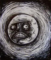 Man in the Moon- sharpie by thebigduluth