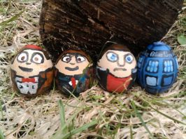 Doctor Whoster eggs by BurningOleander