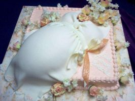 Baby shower cake by E by Ellee22