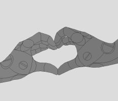 Automail Hand Heart by JouYasha