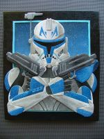 Captain Rex 501st by RamageArt