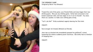 The Drinking Game - Burst Your Breasts (Caption) 0 by Burst-Your-Breasts