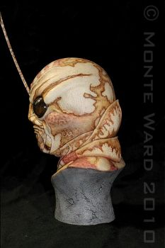 Manhopper 1:2 resin bust 3 by dreggs88