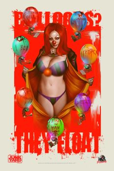 Pennywise The Clown Parody Pinup by willman1701